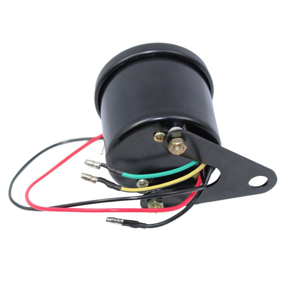 Universal Motorcycle Tachometer Gauge 13000 RPM 12v Սև - Պարագաներ եւ պահեստամասերի համար մոտոցիկլետների - Լուսանկար 5