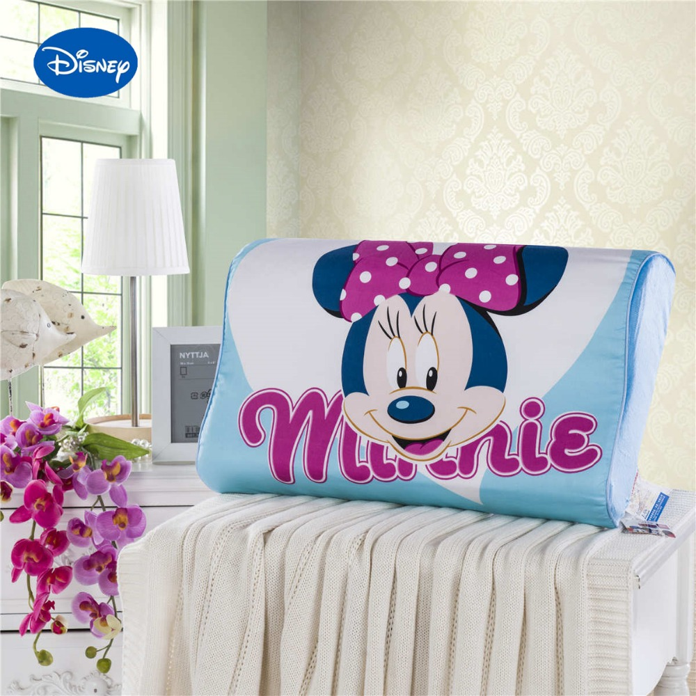 Minnie Mouse Memory Pillows Bedding 50x30cm Cotton Shell Slow Rebound Waving Foam Neck Cervical Sleeping Healthcare Girls Home