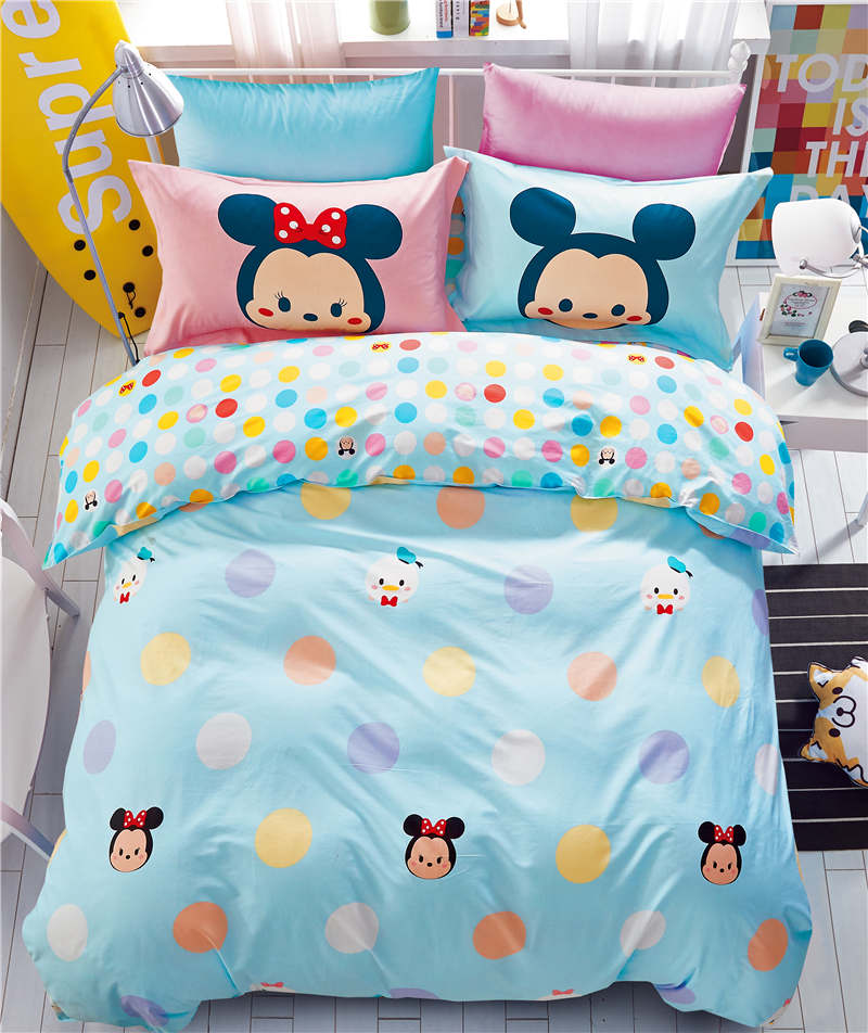 Mickey Minnie Mouse Printed Comforter Bedding Sets Girl S