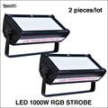 2 stks/partij LED 1000 W RGB strobe LED strobe licht voor dj disco voor stage