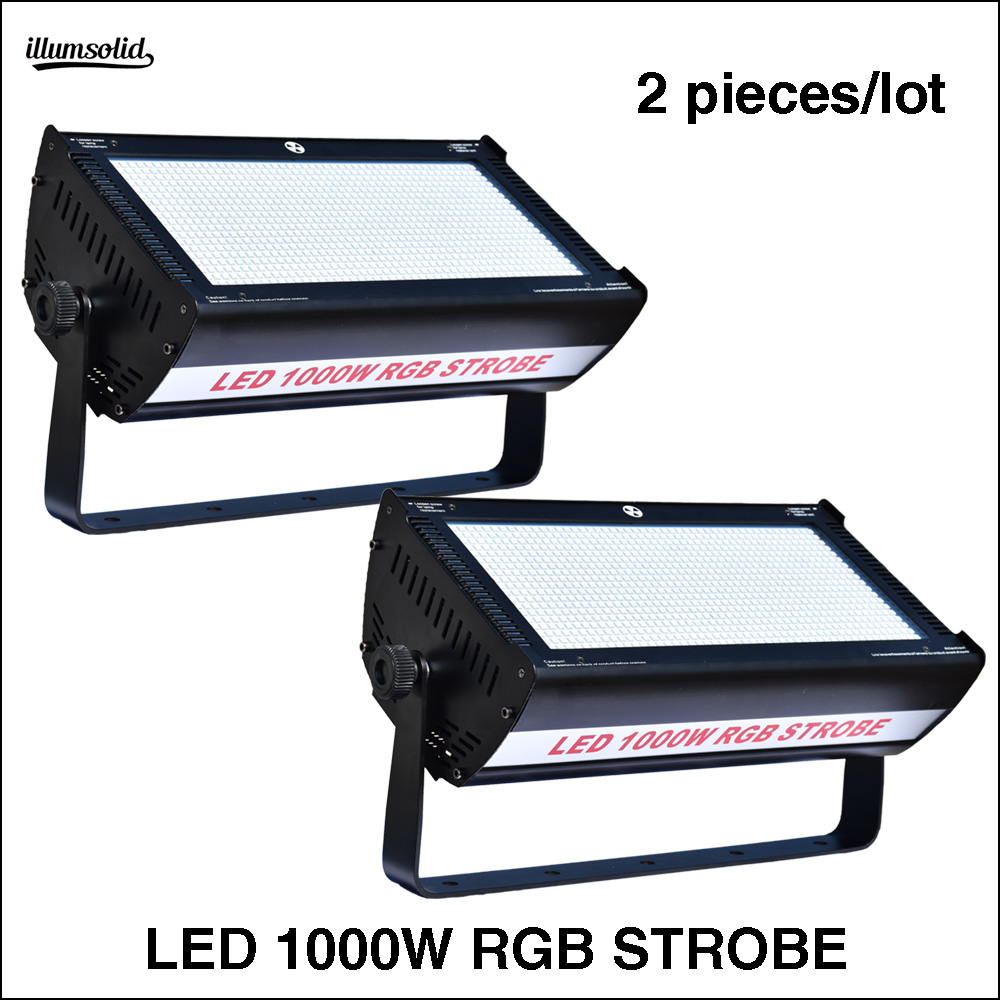 2Pcs/Lot LED 1000W RGB strobe  LED strobe light for dj disco for stage2Pcs/Lot LED 1000W RGB strobe  LED strobe light for dj disco for stage