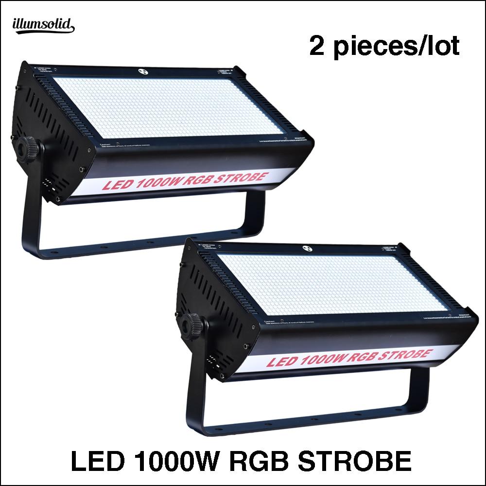 2Pcs/Lot LED 1000W RGB Strobe  LED Strobe Light For Dj Disco For Stage