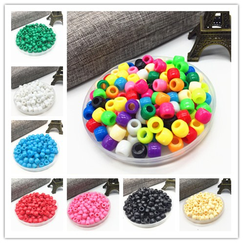100 pièces bracelet à bricoler soi-même accessoires enfants cadeau artisanat département 15 couleur 6MM forme ronde acrylique sucre perles résultats de bijoux