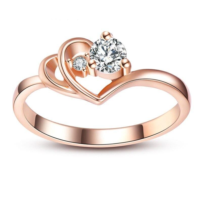 ZHIXUN Vintage Antik arany színű női fehér gyűrű a nőknek Esküvői ... 43f6ef0844