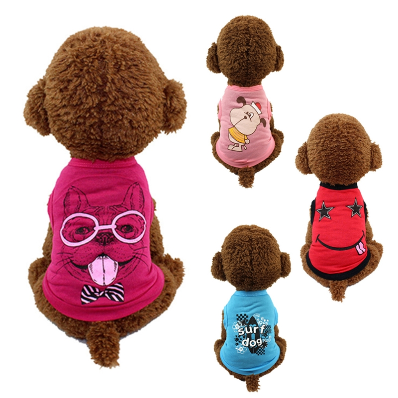 Pet Vest Clothes Summer T Shirt Dog Puppy Funny Cute Clothing Soft Fashion Cheap-m20