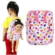 Children Kids Backpack Doll Carrier Sleeping Bag For Generation American Girl Clothes Toy