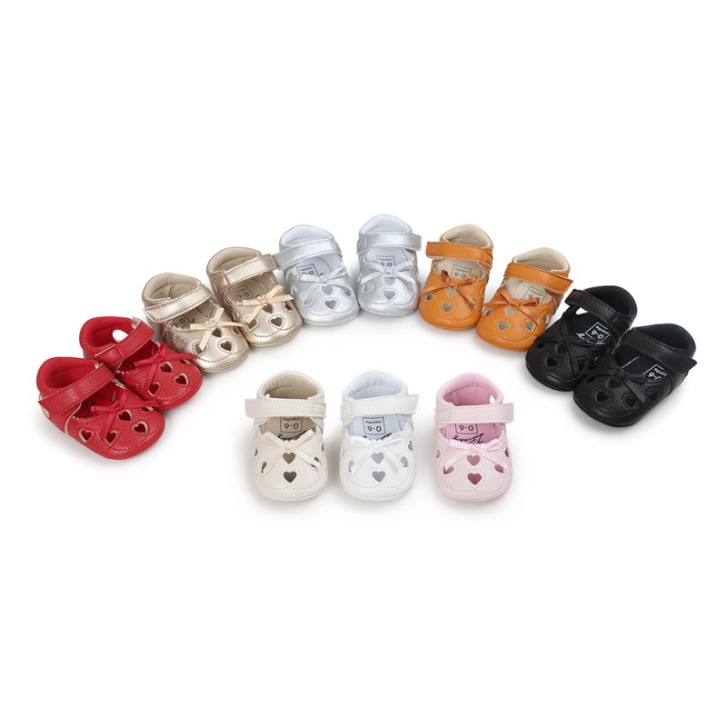 Baby Girls Shoes Cute Heart-shaped H Princess Shoes Infant Toddler Shoes First Walkers
