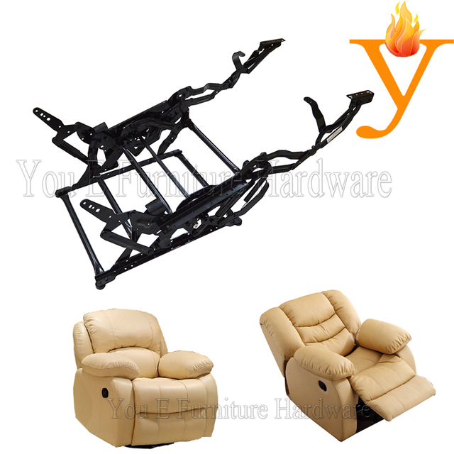 Extending Footrest And Backrest Sofa Chair Recliner Rocking Mechanism With Single Seat C4311
