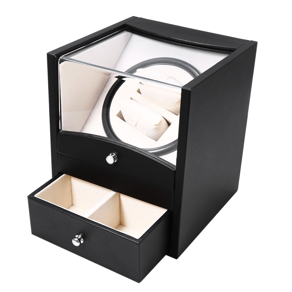 Watch box auto rotation watch winder watch box two grids for 2 box auto profondo