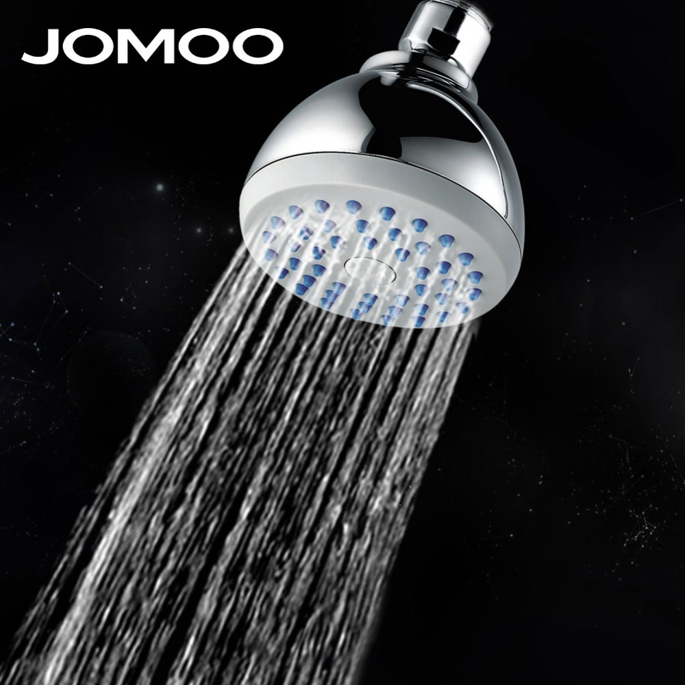 JOMOO bathroom shower head 3-inch rain shower ABS material chrome plating 1 jet single function