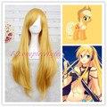 80 см желтый Лили VOCALOID My Little Pony яблочная водка Cos парик CC119 + крышка парика