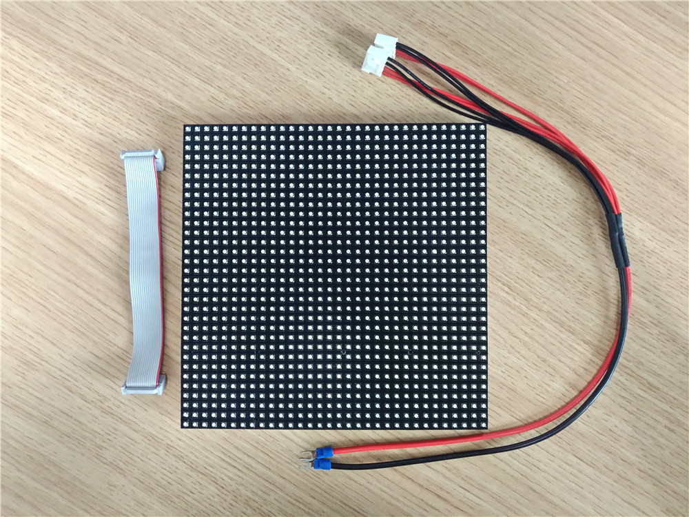 indoor pixel pitch 6mm 1r1g1b 3in1 smd3528 white lamp full color 1/16scan led module 192mm x 192mm