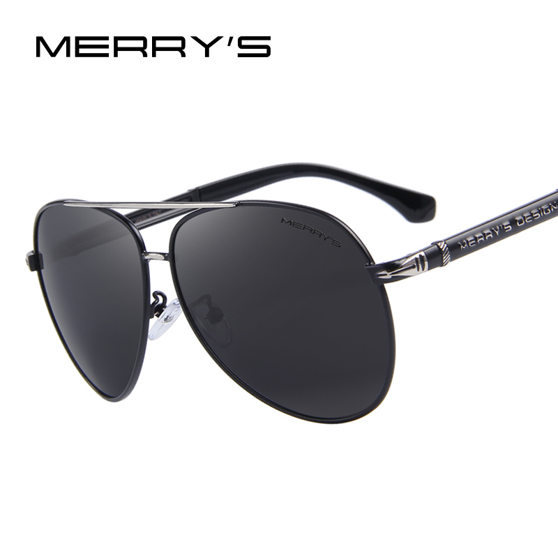 MERRYS Design Men Classic Märke Solglasögon HD Polariserade Aluminium Solglasögon Luxury Shades UV400 S8728
