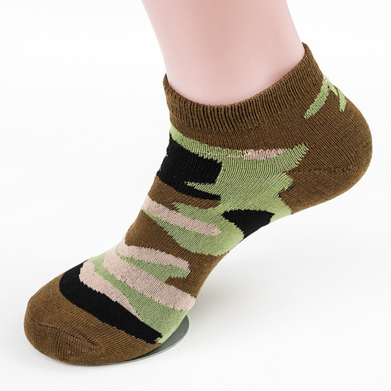 1 Pairs Men's Socks Spring And Summer Cotton Camouflage Army Style Casual Boat Socks Man Short Socks