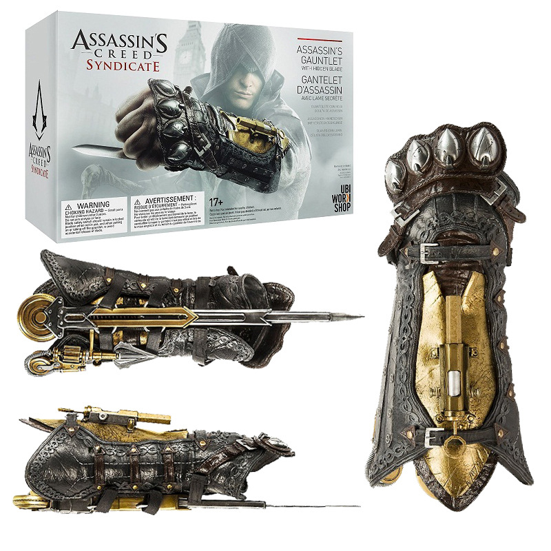Assassins Creed Syndicate Gauntlet with Hidden Blade Avec Lame Secrete Weapons Action Figures PVC brinquedos Collection