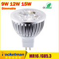 High lumen CREE MR16 - GU5.3 LED spot light lamp 12V 220V 110V 9W 12W 15W LED Spotlight Bulb Lamp GU 5.3 led bulb light