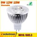 High lumen CREE MR16 - GU5.3 LED spot light lamp 12V 220V 110V 9W 12W 15W LED Spotlight Bulb Lamp GU 5.3 led bulb light