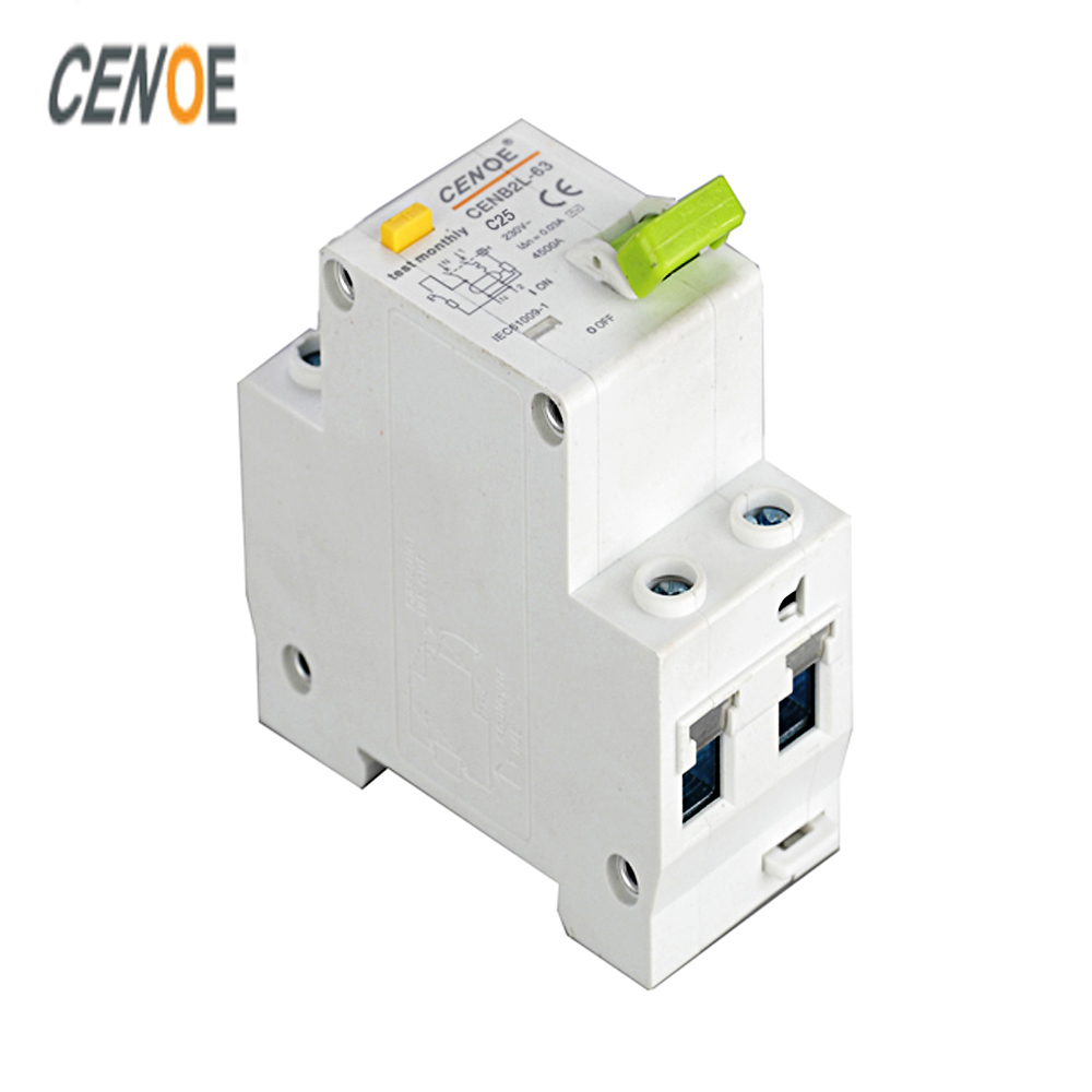 16A 20A 25A 32A 63A high cost performance residual current circuit breaker with over current DPNL 1P+N residual circuit breaker idpna vigi dpnl rcbo 6a 32a 25a 20a 16a 10a 18mm 230v 30ma residual current circuit breaker leakage protection mcb a9d91620