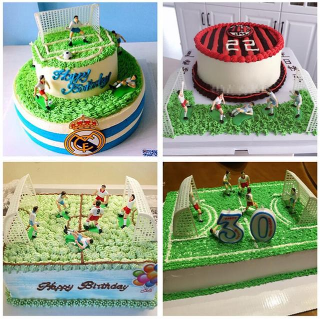 1 Set Football Game Soccer Sport Cake Decoration Party Birthday DIY Gifts PD407