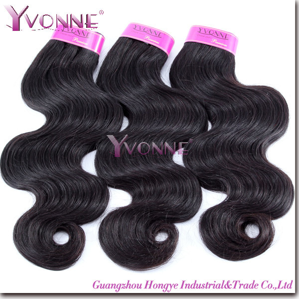 Fashion Brazilian Body Wave Hair,2 bundles Grade 4A Unprocessed Virgin Hair Weave,12-28Inches Aliexpress YVONNE Hair,Color 1B