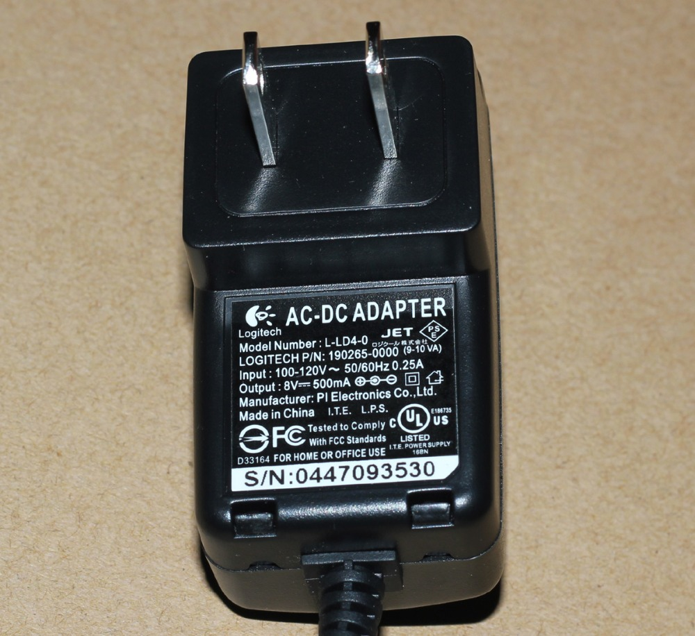 8V AC/DC Adapter For Logitech Harmony 720 880 890 1000 Charger ...
