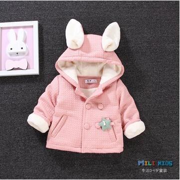 Ежедневные скидки детская одежда девушки новая зимняя добавить шерсть пальто младенца детей 0-1-2 год годовалый ребенок зимние хлопка мягкой одежды