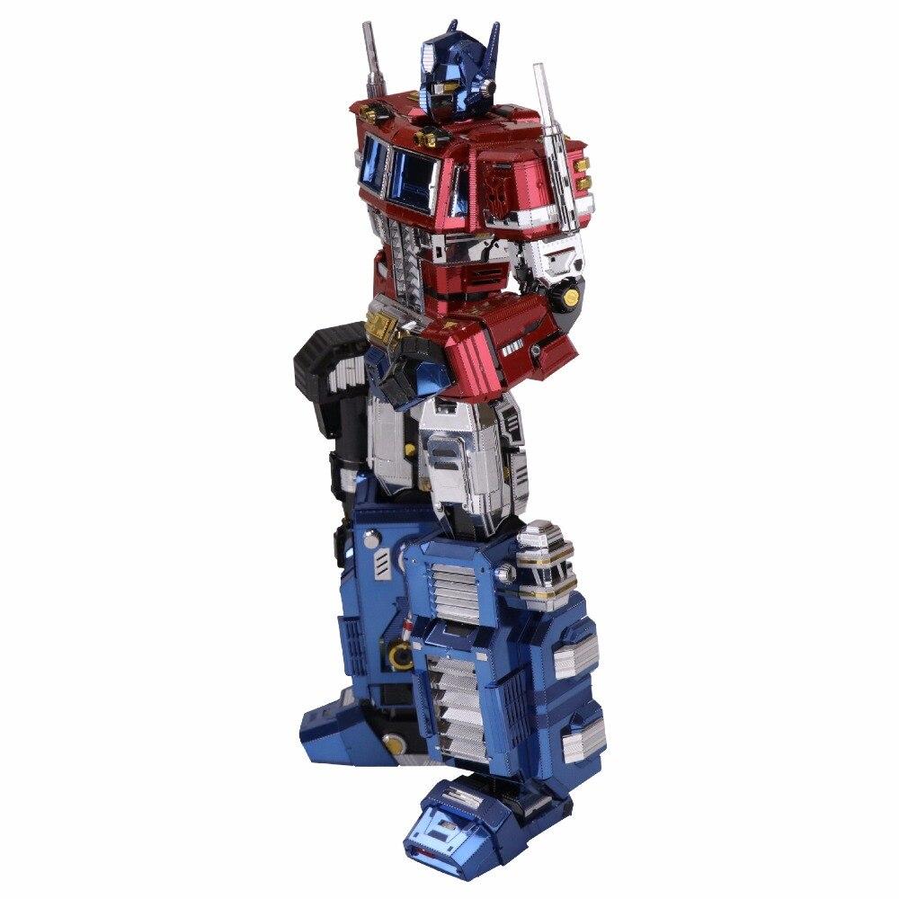MU 3D Métal Puzzle TF Optimus Prime G1 DIY Laser couper puzzles Jigsaw Modèle Pour Adulte enfants Jouets Éducatifs Bureau décoration - 3