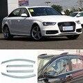 4 pcs Nova Smoked Limpar Janela de Ventilação Da Máscara Viseira Defletores de Vento Para Audi A4L
