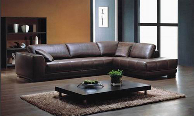 Red Brown Leather Couch Living Room