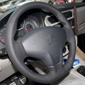 Hand-stitched Black Leather Steering Wheel Cover for Citroen Elysee C-Elysee 2014 New Elysee
