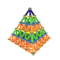 Magnet Toy Bars Metal Balls Magnetic Building Blocks Construction Toys For Children DIY Designer Educational Toys