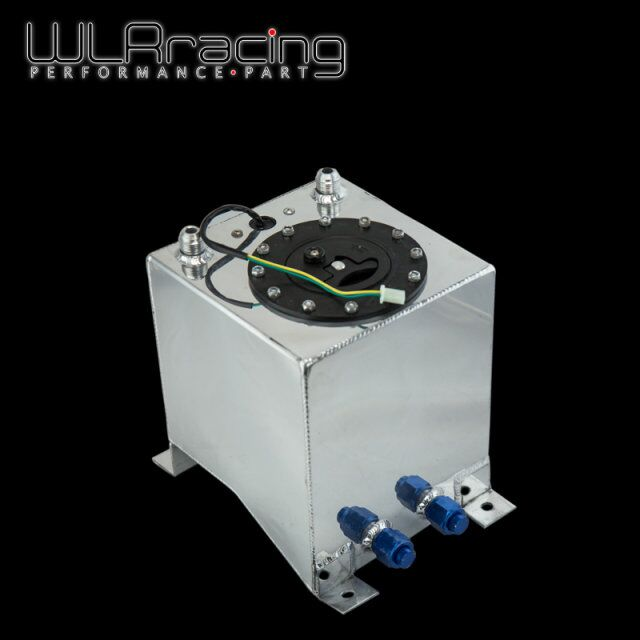 WLR RACING - 10L Aluminium Fuel Surge tank mirror polish Fuel cell with foam inside/sensor WLR-TK38