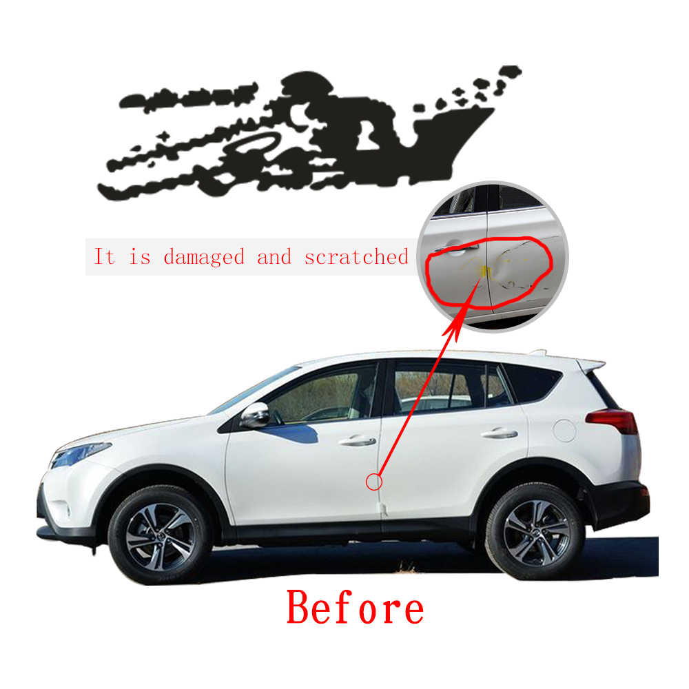 Personality big size car sticker for toyota rav4 suv us army world war ii soldier car