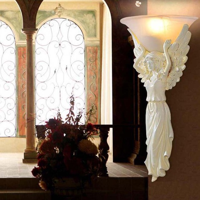 Led Wall Lamp Angel Vintage Step Light Wall Sconces 220V Bed Stair Lights  Mirror Wandlampen Lighting