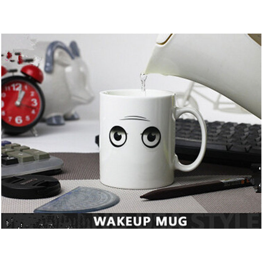 wake up mugs changing color chameleon 300ml funny lovely. Black Bedroom Furniture Sets. Home Design Ideas