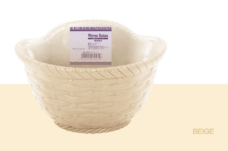 Image 5 - Imitation Wicker Rattan Hanging Basket Holder Half Round Planter Flowerpot Vase Garden Balcony Home Office Decoration Hot 2019-in Flower Pots & Planters from Home & Garden