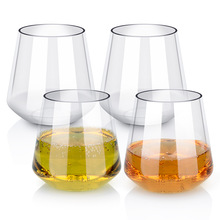 450ml whisky plastic glass cups tritan BPA free unbreakable wine beer juice mug 16oz tumbler