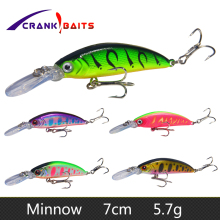 Купить с кэшбэком CRANK BAITS Minnow Fishing Lures 70mm/5.7g Wobblers Floating Hard Bait Japan Pesca Isca Artificial Pike Carp Swimbait Fish YB58