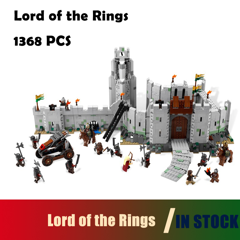 Compatible with lego 9474 Model Building Blocks toys 16013 1368Pcs The Lord of the Rings Series The Battle Of Helm' Deep 16013 castle knights the lord of the rings series the battle of helm deep model building blocks bricks toys for kids 9474 lepin