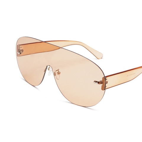 Oversized Shield Visor Sunglasses Women Large Size Sunglasses Men Transparent Frame Vintage Big Windproof Retro Top Hood Glasses Lahore