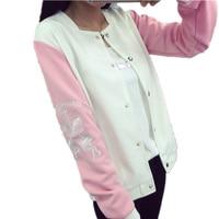 Japan Women S Pink Brand Jackets Women Autumn Full Sleeve Baseball Jacket Female Casual Cardigan Outwear