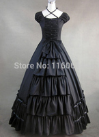 Black Gothic Victorian Style Dress for Sale