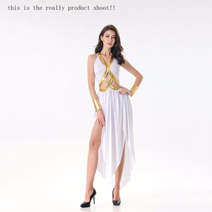 Image 2 - VASHEJIANG Ladies Greek Goddess Cosplay Roman Princess Costumes Adult Sexy Roman Goddess Costume Halloween Carnival Dress