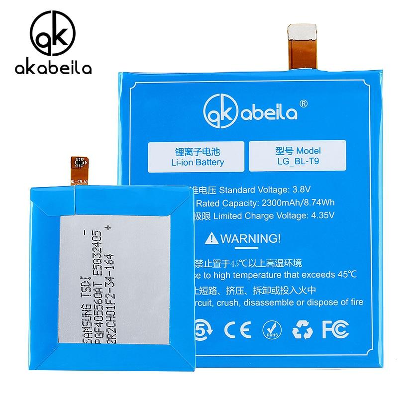 AKABEILA Mobile Phone Li-on Battery For LG Nexus 5 E980 Nexus G D820 D821 BL-T9 BLT9 batterie Replacement battery 3.8V