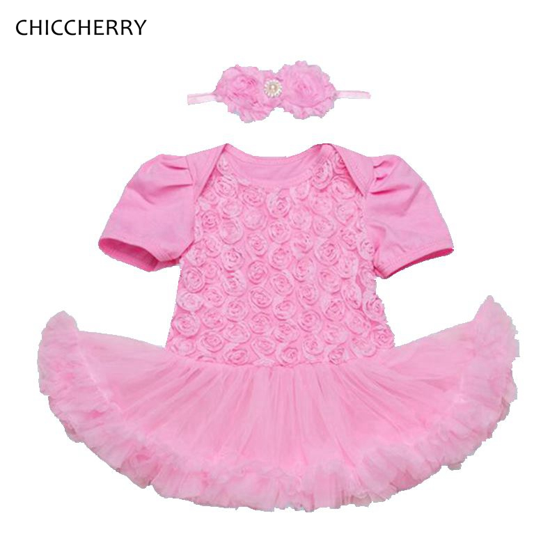 ad3be8e14a8ff 3D Rose Toddler Valentine Dress Headband Vetement Bebe Fille Newborn Baby  Girl Clothes Valentine s Day Outfit Infant Clothing-in Clothing Sets from  Mother ...