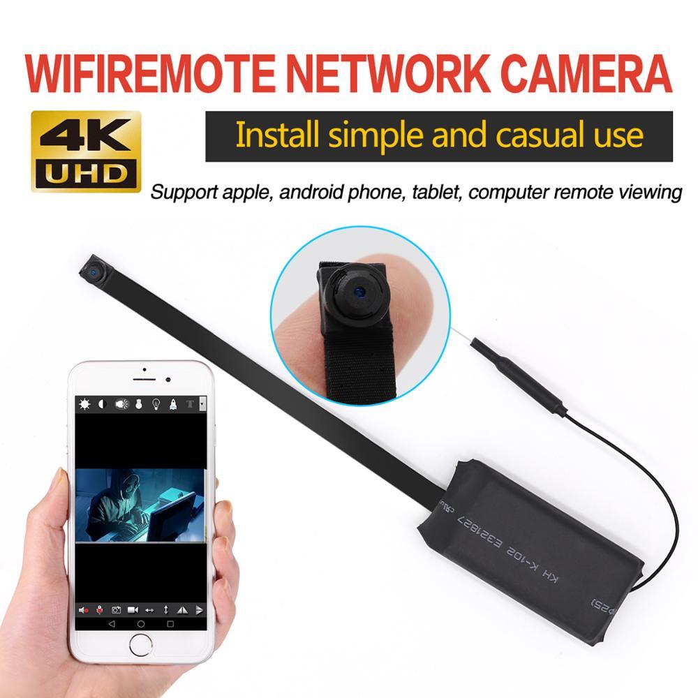 Mini Wifi  Button Camera Remote Control 4K Full HD DIY IP Camera Flexible Micro Cam Mini DV Camcorder