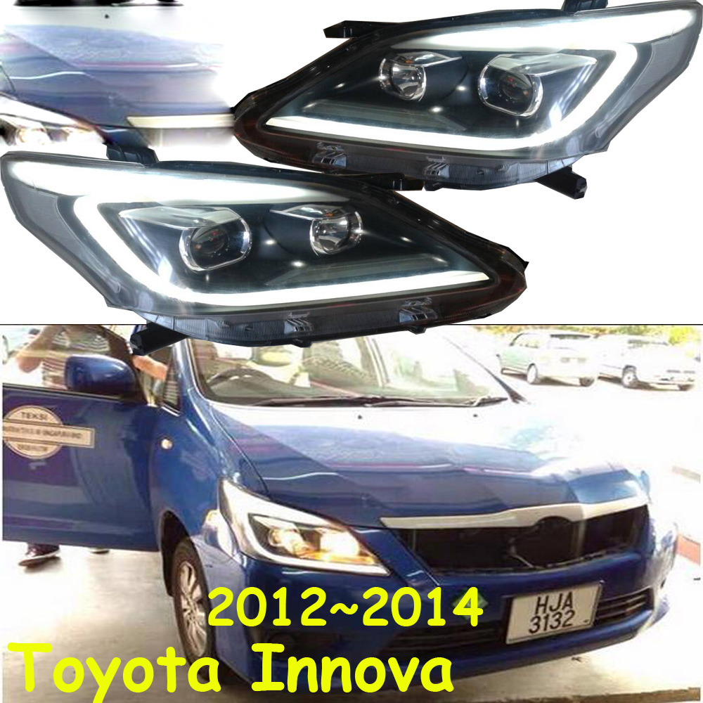 Car Accessories 2pcs Head Lamp For Innova Head Light 2012~2015 Innova Headlight H7 BI Xenon Lens Headlights Front Lamp