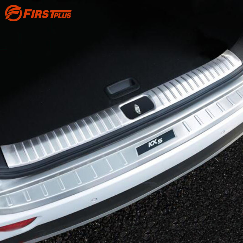 E-cowlboy Stainless Steel Rear Bumper Protector Sill Plate Cover for Sline Audi Q5 2009-2018