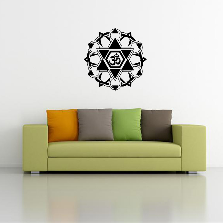 9479 Buddhism India Mandala Wall Stickers Namaste Removable Creative Vinyl Wallpaper Mural Home Decoration Girls Room