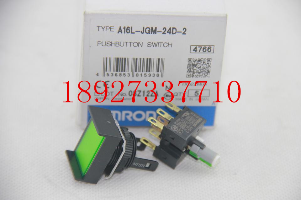[ZOB] Supply of new original authentic OMRON Omron button switch A16L-JGM-24D-2  --5PCS/LOT